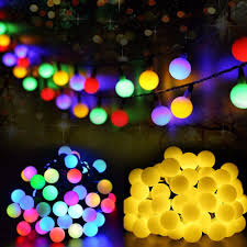 7m50led Solar Light Series Waterproof Outdoor Decorative Ball Fairy