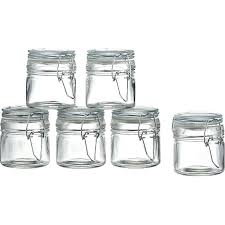 set of 6 mini spice jars with clamp in kitchen crate and barrel libbey vibe glass mini mason spice jars with handle lid