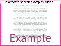Informative Speech Sample Outline Example Apa Format – Jkfoundation