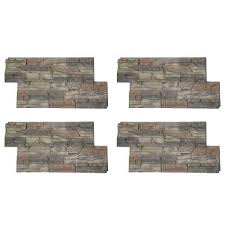 fireplace stone veneer home depot stacked stone in x in faux stone siding panel 4 home