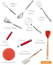 kitchen utensils. Le Creuset Top 10 Kitchen Utensils And Accessories C