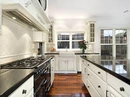 white country galley kitchen. Fine Kitchen Gallery Of White Country Galley Kitchen Throughout L