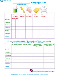Life With Toddlers Free Printable Hygiene Chart For