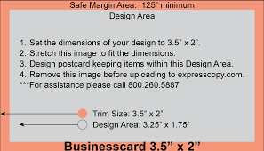 Business Card Print Specifications Expresscopy Com