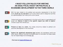 complete guide on writing an analytical essay on political economic  3 4 must follow rules for writing an analytical essay