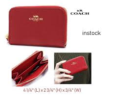 COACH ZIP AROUND COIN CASE F27569