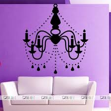 wall decals chandelier decal vinyl sticker 442