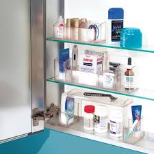 Amazon.com: InterDesign Med+ Bathroom Medicine Cabinet Organizer for  Electric Toothbrush, Toothpaste, Vitamins, Makeup - Clear: Home & Kitchen