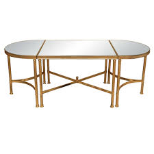 mid century 3 part oval cocktail table at 1stdibs