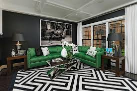view in gallery snazzy contemporary living room with geo style and bold green couch design opal
