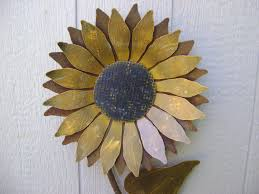 zoom on sunflower wall art metal with sunflower metal garden art sunflower wall art rusty metal