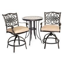 outdoor 3 piece high dining bistro set monaco rc willey furniture