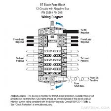 blue sea systems st blade fuse block 12 circuits with negative Blue Sea Fuse Block Wiring Diagram st blade fuse block Blue Sea Fuse Block Install