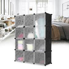 cube 12 w door curl b w langria 12 cube curly patterned black interlocking modular storage organizer shelving system closet wardrobe rack with