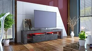 Tv Cabinet Lima Xl Rock In Slate Grey Amazon Co Uk Kitchen Home