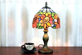 dale table lamp small quoizel tiffany style