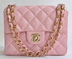 chanel 2 55. auth chanel pink quilted lamb classic 2 55 mini shoulder bag handbag purse 3623 | ebay