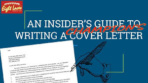 An Insider S Guide To Writing A Champion S Cover Letter By Chris Fo