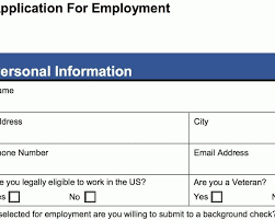 Employee Application Form Word 4 Customizable Employee Job Application Forms Pdf Word