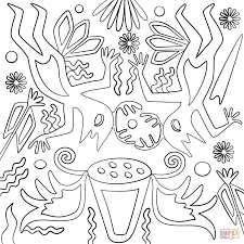 Small Picture Coloring Pages Huichol Art Abstract Figure Coloring Page Free