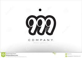 999 Design Logo 999 Number Logo Icon Template Design Stock Vector