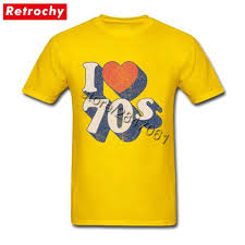 70s T Shirt Design 80s Style Unique I Love 70s T Shirt 70s Tee 1970 Tshirt For Men Famous Brand Design Short Sleeve Tee Shirts Big Tall Size