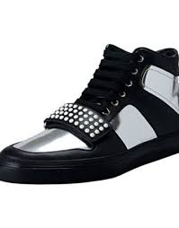 gucci leather shoes for men black. gucci men\u0027s black \u0026 gray leather hi top fashion sneakers shoes for men