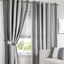 Curtains Lisbon Black Stripe Curtains