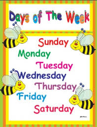 Days Of The Week Chart Days Of The Week Learning Poster And Chart
