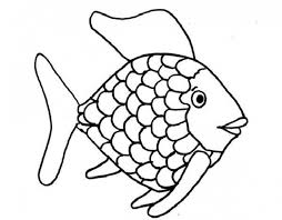 rainbow fish free printables rainbow fish template coloring page