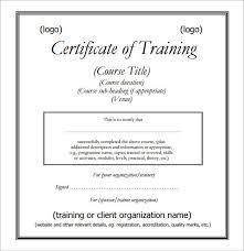 20 Training Certificate Templates Sample Templates