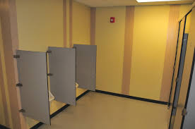 bathroom stall partitions. Toilet Partitions Available In: \u2022Solid Surface \u2022Stainless Steel Plastic Phenolic \u2022High Pressure Laminate \u2022Plastic Bathroom Stall I