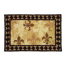 homefires fleur de lis area rug brown view all fleur de lis area rug