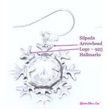 silpada snowflake earring one single cubic zirconia 925 sterling silver cz 1 25 inch dangle new in