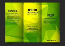 Vector Trifold Business Brochure Template Download Free Vector Art