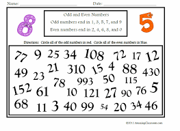 Math - Numbers & Operations - Recognizing Numbers / Odd & Even ...