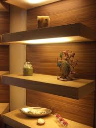 Ikea Oak Floating Shelves Adorable Ikea Shelf Lighting Custom Made Lighted Floating Shelves By Oak