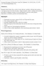 resume order of jobs career picker under fontanacountryinn com