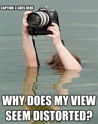 Why does my view seem distorted? Caption 3 goes here - Underwater ... via Relatably.com