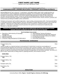 Community Relations Resume Sample & Template