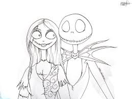 Small Picture Nightmare Before Christmas Coloring Page Best Resume Collection