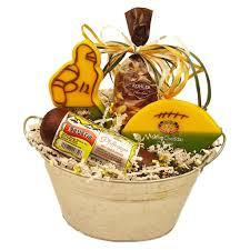 game day snacks gift bucket