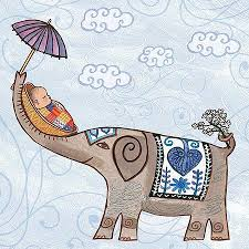 Elephant New Baby Greeting Card Zukababy