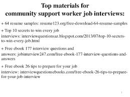 Community Support Worker Resume Sample Pdf Ebook