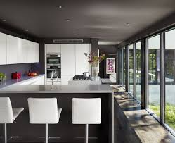 Kitchen:Kitchen Bar Design, Bar Design, Kitchen Modern Kitchen Breakfast Bar  With L