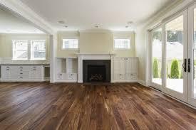 dark hardwood floor in living room