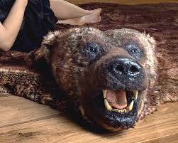 Faux Bearskin Rug Rug Faux Bearskin Rug Grey Faux Sheepskin Rug Faux Bear Rug