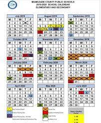 How To Make A School Calendar 2 0 1 9 2 0 2 0 Mdcps School
