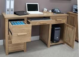 large computer desk with storage mat shelves solid oak furniture office winsome
