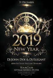 New Year Flyers Template Happy New Year 2019 Free Party Flyer Template For New Year